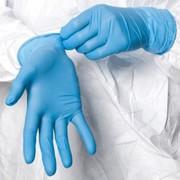 Перчатки диагностические нитриловые текстурированные неопудренные нестерильные фото