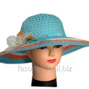 Шляпа соломенная с цветком 080 фото