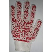 Перчатки рабочие трик. из х/б пряжи с рис. ПВХ (лист.) Арт. 622 фото