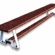 Скамья гимнастическая на металлических опорах фото