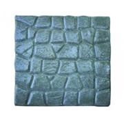 Бетонная плитка для дорожек БРУЩАТКА 500x500x60. Цвет: серый фото