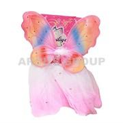 Крылья феи радуга с юбкой (60см) фото