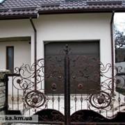 Кованые ворота 14 фото