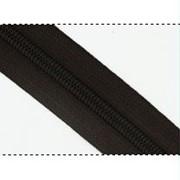 Молния рулонная обувная №7 в ассортименте, черная фото