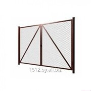 Ворота из сетки рабица 1.5м х 4м фото