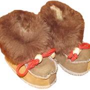 Дитяче взуття із вовни (пінетки) фото