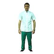Костюм медицинский мужской, рукав короткий, кнопки. Размер 52 Рост 176 фото