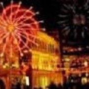 Новогоднее оформление фасадов, профессиональная подсветка зданий фото