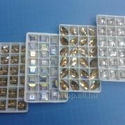 Стразы пришивные стекло 1уп - 24шт фото