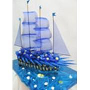 """Корабль из конфет """"Бригантина"""" фото"""