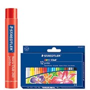 Мелки восковые 8 цветов STAEDTLER Noris Club Jumbo, 12мм, в картонной коробке фото