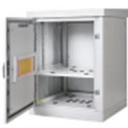 Шкаф уличный всепогодный 12U (600х600), передняя дверь вентилируемая фото