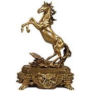 Скульптура Вольный ветер Гранд / Конь на пьедестале 36х50х20см. арт.МК1135 фото