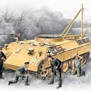 Модель ICM 1/35 Bergepanther с германским танковым экипажем фото