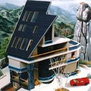 Типовой проект двухэтажного восьмикомнатного жилого дома с мастерской художника фото