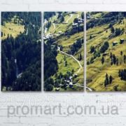 Модульна картина на полотні Зелені гори код КМ6090-057 фото