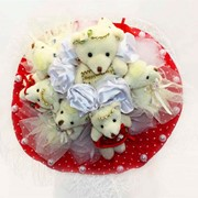 Букет из мягких игрушек Клубничное эскимо 5058 фото