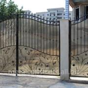 Ворота матовые с ковкой №62 фото