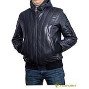 Куртка кожаная МК/17-7К Vegital Dark Blue фото