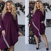 Платье женское свободного кроя (3 цвета) - Марсала ТК/-3035 фото
