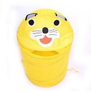 LI HSEN LI HSEN Корзина для игрушек КОТИК желтый 35*58 см (20 шт. в кор.) (808L) фото