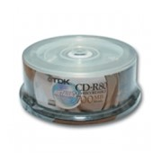 Диск CD-R набор TDK 700 MB 52х, Cake Box 25 шт. фото