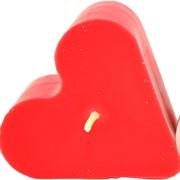 Свеча Сердце красное ( 7Х7Х3,5 ) фото