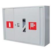 Шкаф для пожарного рукава и одного огнетушителя. Шкафы производим под заказ любой конфигурации. фото