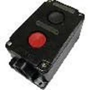 Пост 2-х кнопочный ПКУ-36 2 красный в корпусе 10А 660В фото