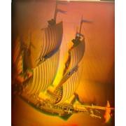 Голограмма художественная Парусник фото