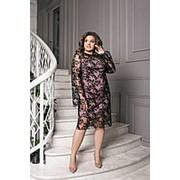 Изящное платье женское АМ/-1466 - Пудра фото