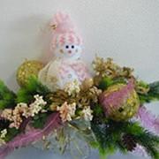 Композиция новогодняя Снеговик №3 фото