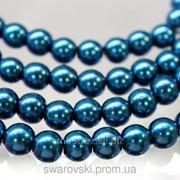 Декоративный искусственный жемчуг Dark Aquamarine 8мм. (50шт) фото