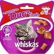 Whiskas 40г Duo Treast Лакомство для взрослых кошек Говядина и сыр фото