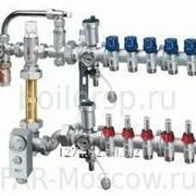 Сборный регулирующий узел для напольного отопления, 5 отводов на теплый пол, в коллекторном шкафу, Евроконус, артикул FK 3585 13405 фото
