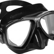 Focus Cressi sub маска с двумя иллюминаторами, Сменные стекла, Коробка, Чёрный фото
