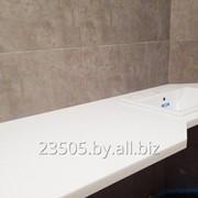 Столешницы в ванную из искусственного камня фото