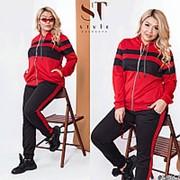 Спортивный костюм женский с лампасами (3 цвета) ОС/-937-1 - Красный фото
