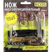 Нож многофункциональный ECOS SR084 милитари фото