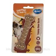 Игрушка для собак с ароматом бекона, Кость, нейлон, коричневая, 11см DUVO+ фото