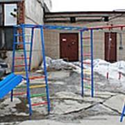Комплекс детский спортивный уличный ГИМНАСТ горка НЕРЖАВЕЙКА фото