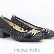 Туфли на низком каблуке 7089 Lady Comfort черн фото