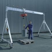Алюминиевый портальный специальный кран с подводом электропитания и канатным электротельфером., пр-во STAHLCraneSystems (Германия) фото