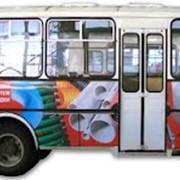 Реклама на автобусах фото
