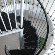 Винтовая лестница Arke Сivik, диаметр 140см, белая/серая/черная фото