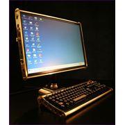 Позолоченный корпус компьютера фото