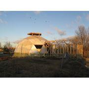 Строительство каркасно-щитовых домов сферической формы купольных домов круглых домов фото