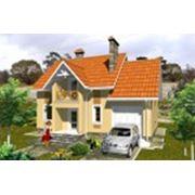 Компактный дом с мансардой для круглогодичного использования с встроенным гаражом фото
