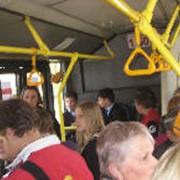 Реклама внутри автобусов, трамваев, троллейбусов фото