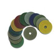Круги алмазные шлифовально-полировальные для обработки торцов из природного камня, как на сухо, так и с водой. Крепление - липучка. фото